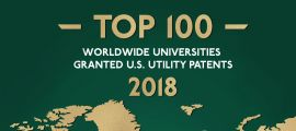 top 100 worldwide universities granted US utility patents 2018